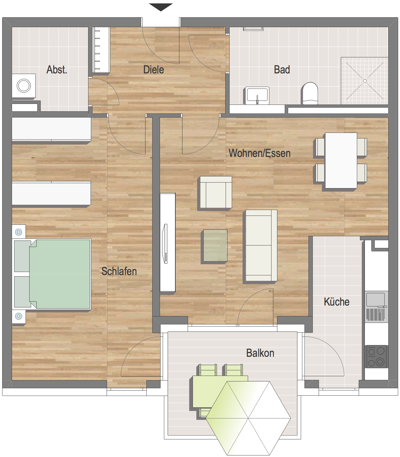 Grundrissbeispiel Wohnung